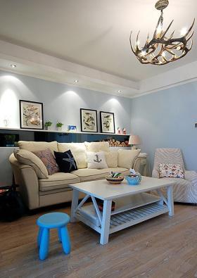 蓝色地中海客厅装修设计