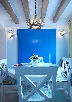 蓝色地中海餐厅吊顶欣赏