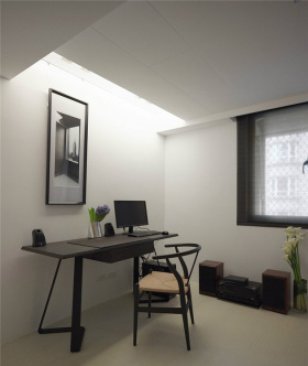 黑色极简宜家风书房设计
