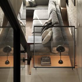 现代简约客厅楼梯设计效果图
