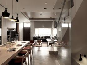 现代简约设计餐厅过道设计效果图