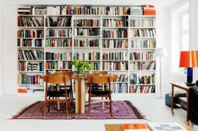 干净格致的白色简欧风书房效果图