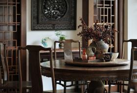 中式宫廷餐厅装修设计图
