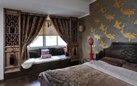 典雅独特古典中式卧室飘窗设计