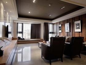 现代简约客厅吊顶设计图
