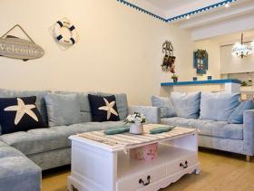 蔚蓝地中海二居装潢设计