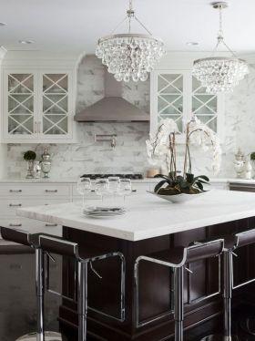 奢华欧式厨房吧台欣赏