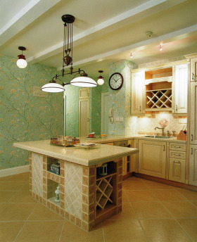 唯美地中海厨房装修案例