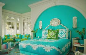 地中海蓝色卧室设计