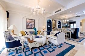 地中海夏日客厅设计