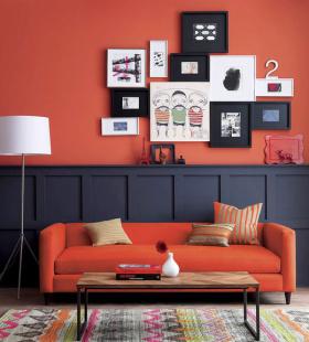 红色简欧客厅设计图片
