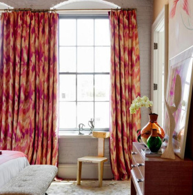 简欧卧室窗帘案例