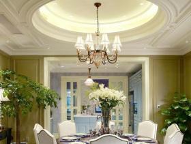 欧式餐厅家装吊顶设计