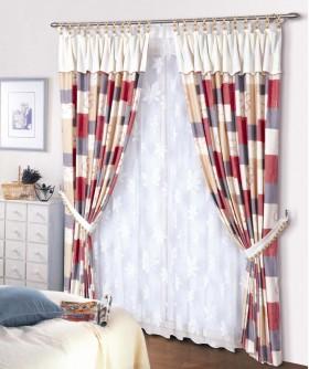 田园卧室窗帘设计