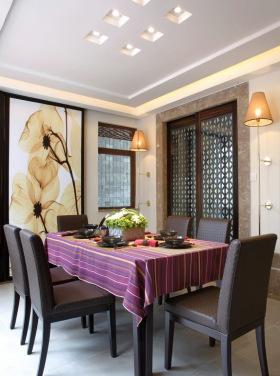 中式浪漫餐厅装饰图