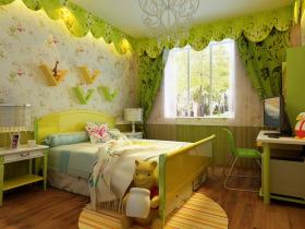 田园绿色卧室清新设计