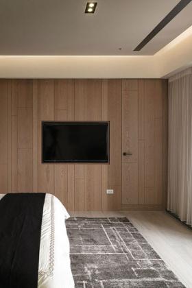 原木宜家卧室背景墙图片
