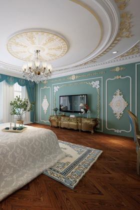 地中海富贵卧室背景墙图片