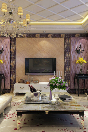 欧式富贵客厅装修