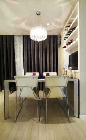 现代白色餐厅布置案例