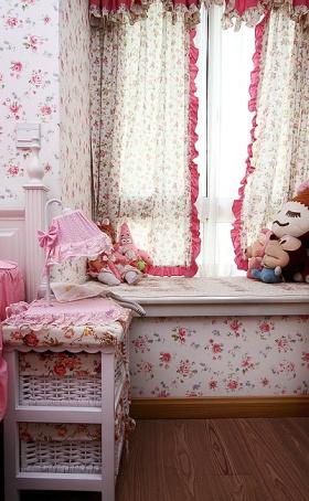 粉色简欧风格儿童房装潢