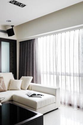现在简约设计客厅窗帘图