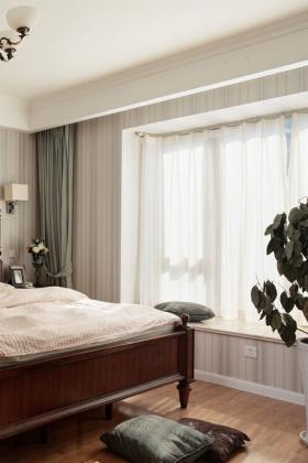 宜家卧室窗帘设计图片