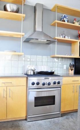 美式木质厨房案例