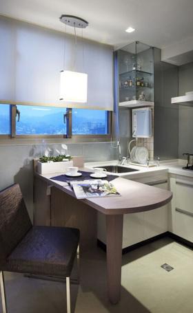 简欧创意厨房吧台设计