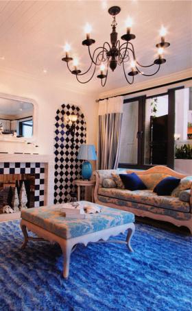 地中海舒适客厅效果图