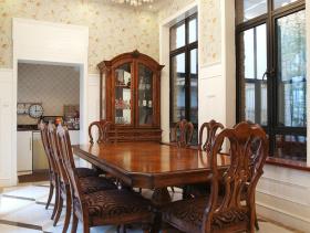 欧式古典餐厅吊顶效果案例