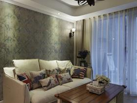 简欧白色客厅吊顶设计图