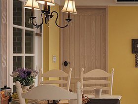 美式乡村风格餐厅设计吊顶效果图片
