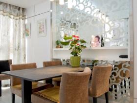 现代简约室内餐厅隔断效果图片