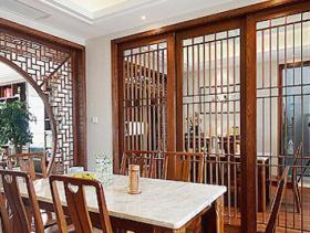 典雅中式餐厅隔断设计