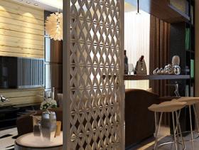 美式设计餐厅隔断欣赏图