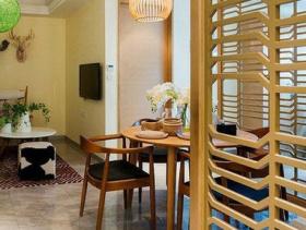 家居中式餐厅隔断图