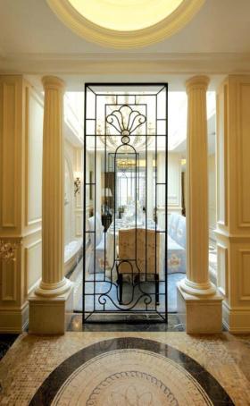 欧式古典餐厅隔断设计图