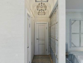 简约欧式风格卧室隔断设计效果图