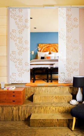 宜家美式设计卧室隔断效果图