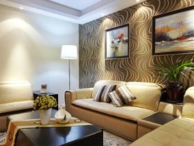 欧式客厅流线背景墙设计