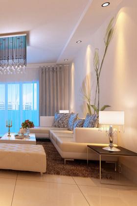 现代白色客厅效果设计