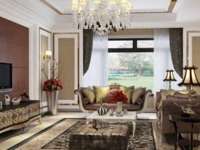 欧式豪华客厅吊顶图