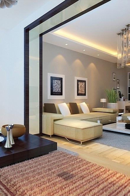 美式简约客厅家装设计效果图片