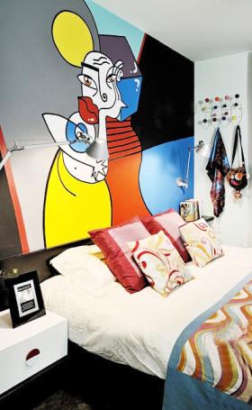 简约风格化卧室装潢