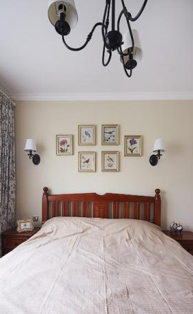 中式卧室照片墙案例