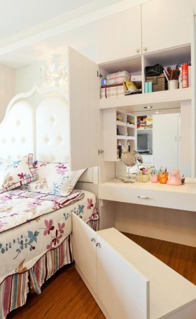 甜美欧式卧室收纳案例