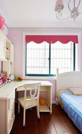 粉色美式卧室效果设计