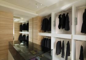 极简混搭风格卧室衣柜设计