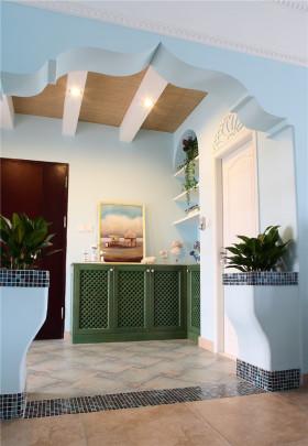 地中海小清新室内玄关设计效果图